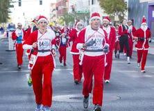 拉斯维加斯巨大圣诞老人奔跑 免版税库存图片