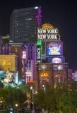 拉斯维加斯新的纽约旅馆 图库摄影