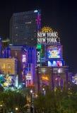 拉斯维加斯新的纽约旅馆 库存照片