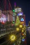 拉斯维加斯新的纽约旅馆 免版税库存图片