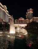 拉斯维加斯旅馆凯撒宫在夜之前 库存照片
