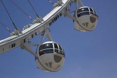 拉斯维加斯最新的吸引力云霄飞车弗累斯大转轮客舱 免版税库存照片