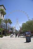 拉斯维加斯最新的吸引力云霄飞车弗累斯大转轮 免版税图库摄影
