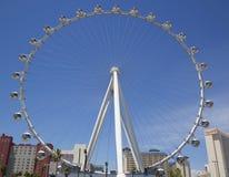 拉斯维加斯最新的吸引力云霄飞车弗累斯大转轮 库存图片