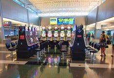 拉斯维加斯机场终端 免版税库存照片