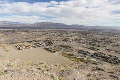 拉斯维加斯沙漠发展 免版税图库摄影