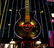 拉斯维加斯硬石餐厅吉他 库存图片