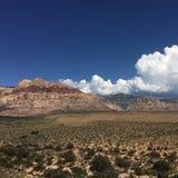 拉斯维加斯红色山 库存照片