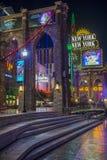 拉斯维加斯纽约旅馆 免版税库存照片