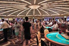 拉斯维加斯赌博娱乐场地板 库存图片