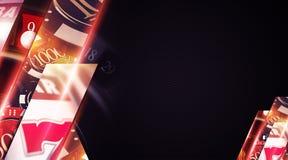 拉斯维加斯赌博娱乐场背景 免版税图库摄影