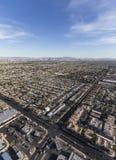 拉斯维加斯都市风景天线 图库摄影
