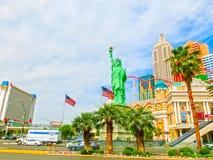 拉斯维加斯,内华达,美国- 2016年5月05日:纽约旅馆赌博娱乐场 库存图片