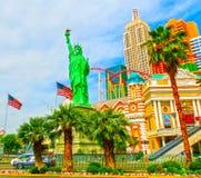 拉斯维加斯,内华达,美国- 2016年5月05日:纽约旅馆赌博娱乐场 免版税库存照片