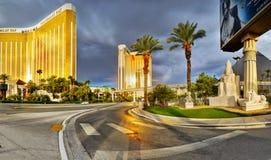 拉斯维加斯,内华达-日出曼德勒海湾旅馆 免版税库存照片