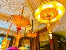 拉斯维加斯,美利坚合众国- 2016年5月06日:在Wynn旅馆和赌博娱乐场的内部 免版税库存照片