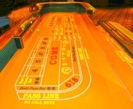 拉斯维加斯,美利坚合众国- 2016年5月11日:打牌的桌在佛瑞蒙赌博娱乐场 库存图片