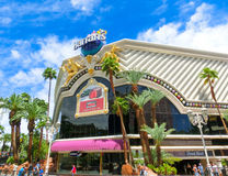 拉斯维加斯,美利坚合众国- 2016年5月05日:Harrah ` s旅馆和赌博娱乐场 免版税库存照片