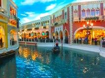 拉斯维加斯,美国- 2016年5月06日:威尼斯式度假旅馆和赌博娱乐场 库存图片