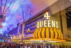 拉斯维加斯, 4位女王旅馆和赌博娱乐场 免版税库存照片