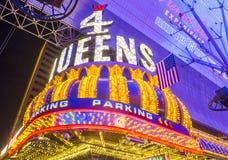 拉斯维加斯, 4位女王旅馆和赌博娱乐场 免版税图库摄影