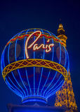 拉斯维加斯,巴黎旅馆 库存图片