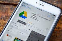 拉斯维加斯, NV - 9月22日 2016 - 谷歌推进iPhone App 免版税库存图片