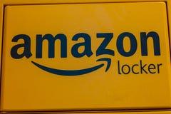 拉斯维加斯-大约2016年12月:亚马逊衣物柜地点 亚马逊衣物柜是亚马逊提供的自助送货业务IV 免版税库存图片