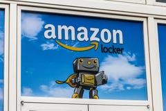 拉斯维加斯-大约2016年12月:亚马逊衣物柜地点 亚马逊衣物柜是亚马逊提供的自助送货业务v 免版税库存图片