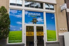 拉斯维加斯-大约2016年12月:亚马逊衣物柜地点 亚马逊衣物柜是亚马逊提供的自助送货业务VI 图库摄影