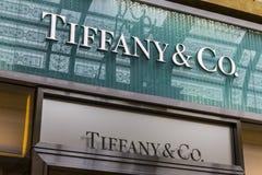 拉斯维加斯-大约2016年12月:蒂凡尼& Co 零售购物中心地点 蒂凡尼` s是豪华首饰和特产零售商IV 免版税库存图片
