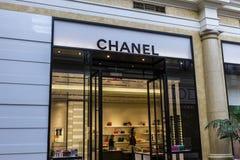 拉斯维加斯-大约2016年12月:香奈儿零售购物中心地点 香奈儿为它的高端时尚广泛被认识我 库存照片