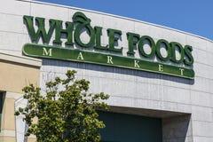 拉斯维加斯-大约2017年7月:整个食物市场 亚马逊宣布了协议买$13的整个食物 70亿IV 库存图片