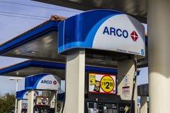 拉斯维加斯-大约2016年12月:ARCO零售加油站 ARCO是Tesoro Corporation II的一部分 免版税库存图片