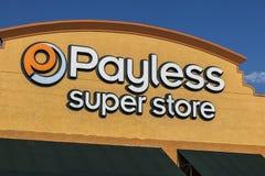 拉斯维加斯-大约2017年7月:Payless ShoeSource零售购物中心地点 Payless ShoeSource卖鞋子在折扣III 免版税图库摄影
