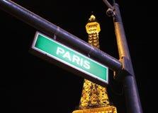 拉斯维加斯巴黎推进标志 库存图片