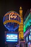拉斯维加斯巴黎旅馆 免版税库存照片