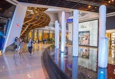 拉斯维加斯水晶购物中心 图库摄影