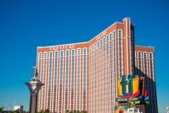 拉斯维加斯- 2013年12月13日:12月13日的拉斯维加斯赌博娱乐场 免版税库存照片