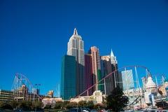 拉斯维加斯- 2013年12月13日:12月13日的拉斯维加斯赌博娱乐场 库存图片