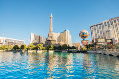 拉斯维加斯- 2013年12月12日:Decem的著名拉斯维加斯赌博娱乐场 库存图片