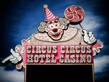 拉斯维加斯NV - 6月05日旅馆赌博娱乐场6月27日的马戏马戏 库存图片