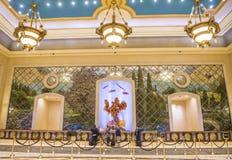拉斯维加斯Palazzo内部 库存图片