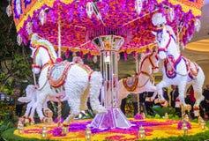 拉斯维加斯Wynn旅馆花设施 免版税库存照片