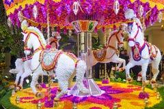 拉斯维加斯Wynn旅馆花设施 免版税库存图片