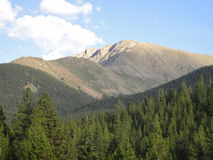 拉普拉塔峰顶 库存图片