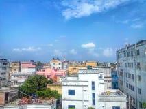 拉杰沙希市都市风景 免版税库存图片