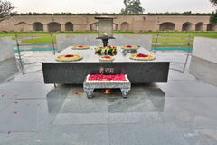 拉杰Ghat纪念品 德里 印度 免版税库存图片