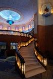 拉杰Mandir戏院内部台阶 免版税库存图片