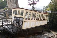 拉格,葡萄牙 19世纪缆索铁路在Bom耶稣在拉格做Monte圣所, 免版税库存图片